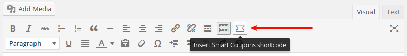 Smart Coupon Shortcode Button