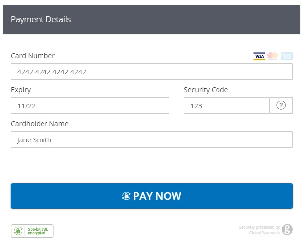 WooCommerce Global Payments HPP New customer checkout