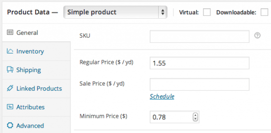 WooCommerce Measurement Price Calculator Price Mode Product Sample