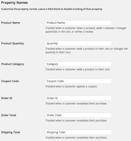 WooCommerce Mixpanel Property Names