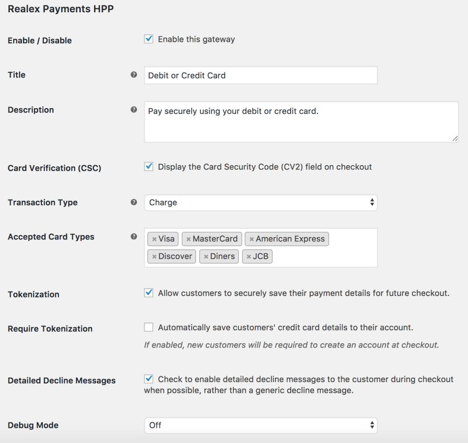 WooCommerce Global Payments HPP Settings 1