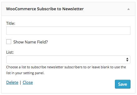 Newsletter Widget