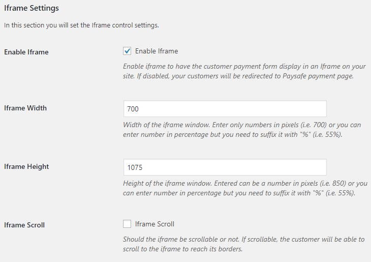 paysafe-settings-iframe - WooCommerce Docs