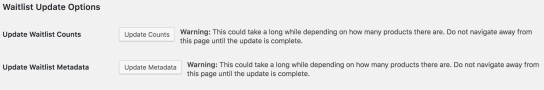 Update options available for the Waitlist plugin found on the settings page