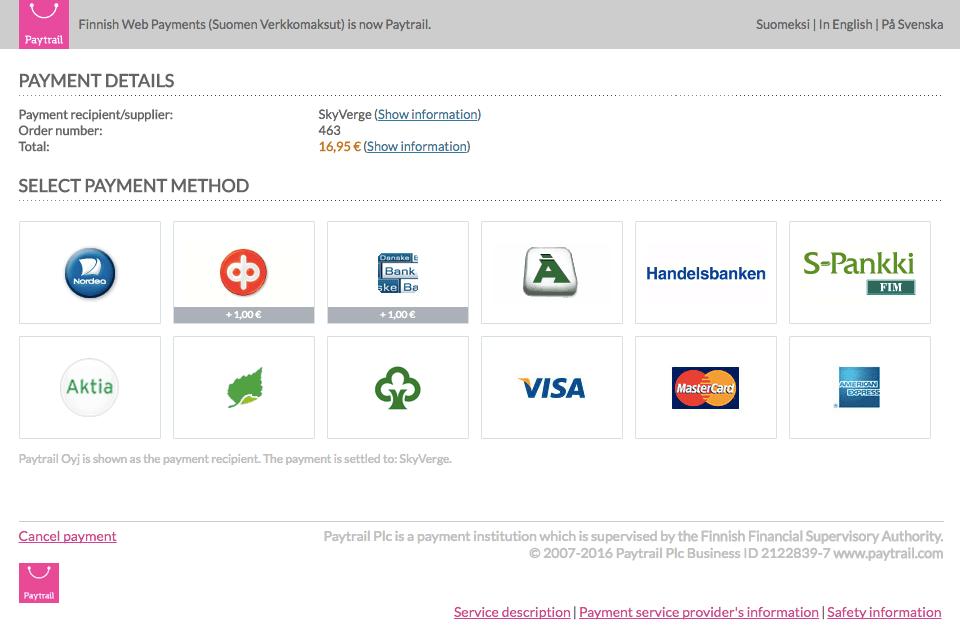 WooCommerce Paytrail - WooCommerce