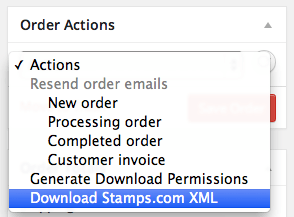 WooCommerce Stamps.com XML Export Order Actions