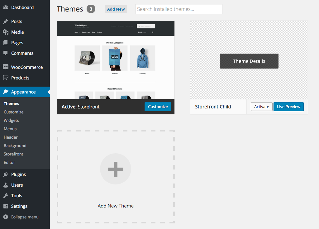 Set Up And Use A Child Theme Woocommerce Docs