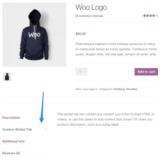 WooCommerce Tab Manager-Frontend