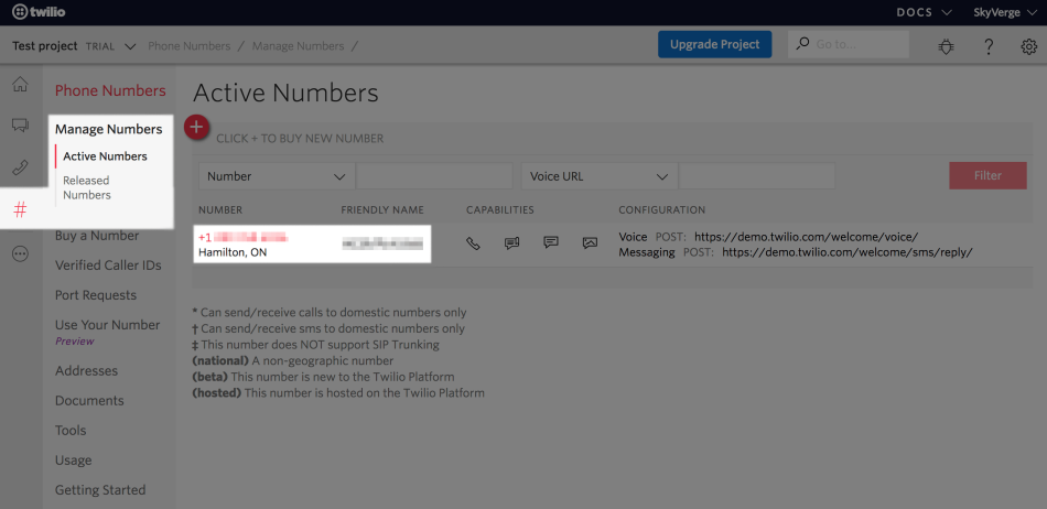 """WooCommerce Twilio Get """"From"""" number"""