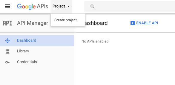 WooCommerce Twilio: Create Google Project