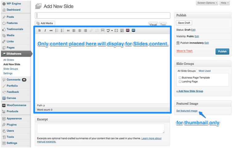 using the slides slideshow type in wooslider woocommerce docs