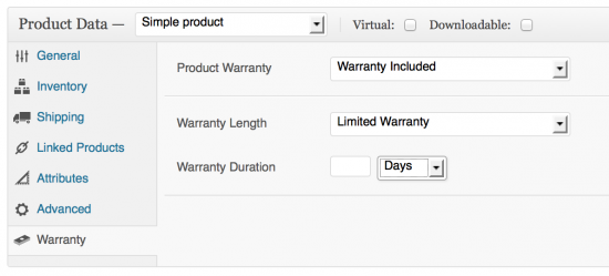 Set warranties with limited durations for your products