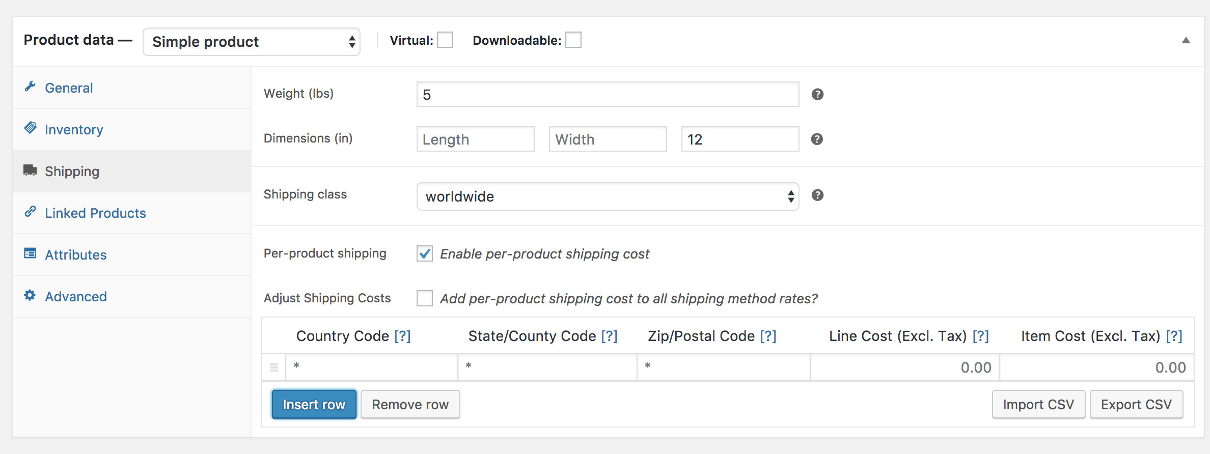Per-Product Shipping - WooCommerce Docs