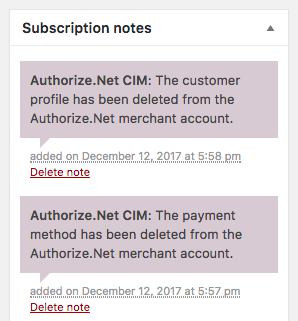 WooCommerce Authorize.Net CIM webhook notifications