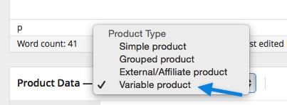 Selecionando produto variável WooCommerce