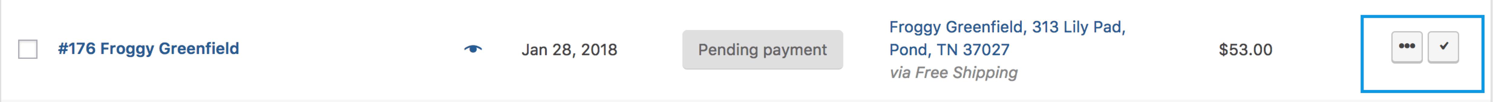 Orders Shortcut Buttons