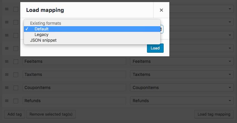 WooCommerce Customer / Order XML Export: Load Built-in format