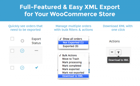 WooCommerce Customer / Order XML Export Suite