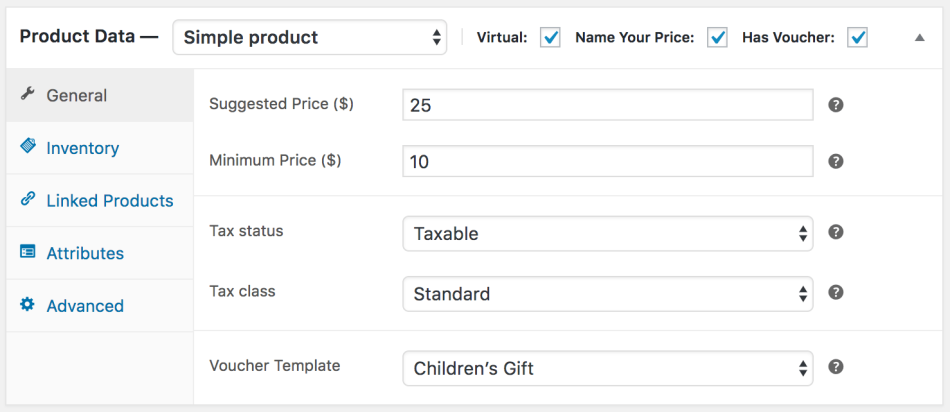 WooCommerce PDF Product Vouchers: Name your price