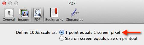 Preview > Preferences... > PDF
