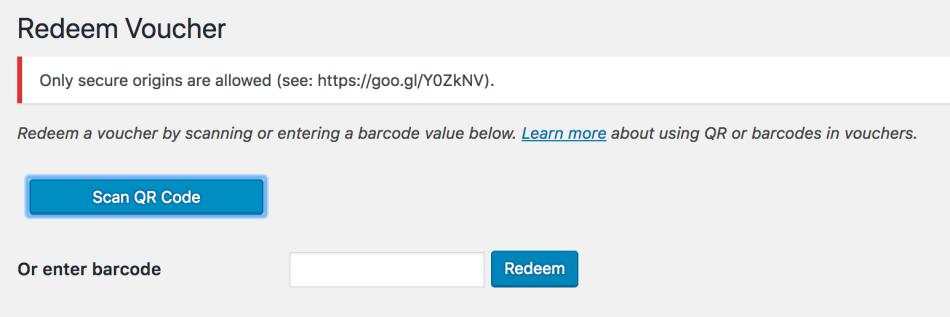 WooCommerce PDF Product Vouchers scanning QR codes error
