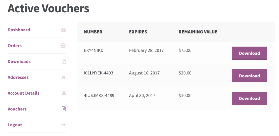WooCommerce PDF Product Vouchers: My Vouchers  How To Make A Voucher