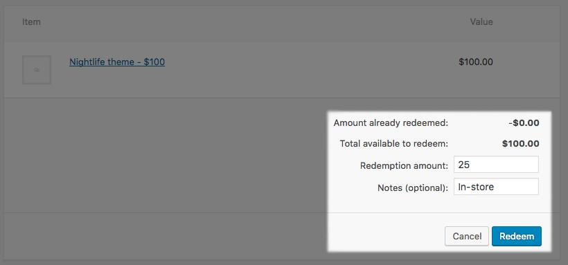 WooCommerce PDF Product Vouchers: Add redemption
