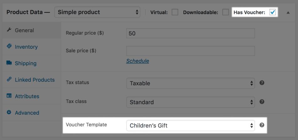 WooCommerce PDF Product Vouchers: Attach voucher (simple)
