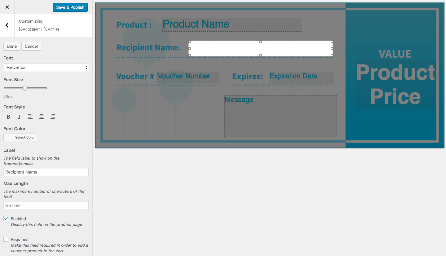 PDF Product Vouchers - WooCommerce
