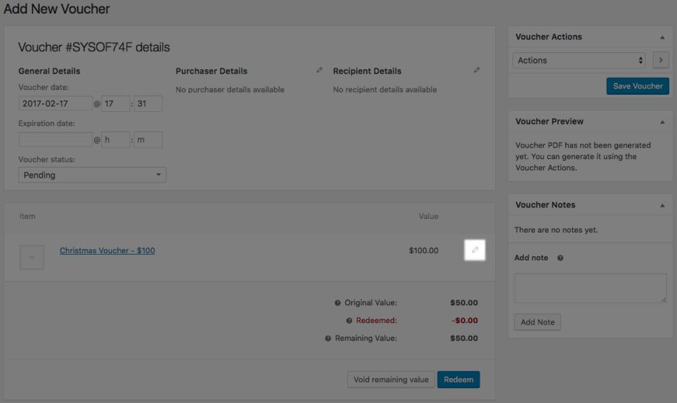 WooCommerce PDF Product Vouchers: Change voucher product