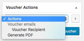WooCommerce PDF Product Vouchers: Voucher actions