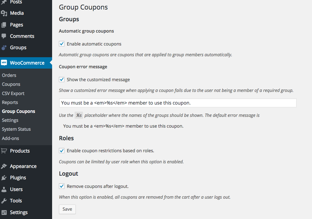Group Coupons Screenie