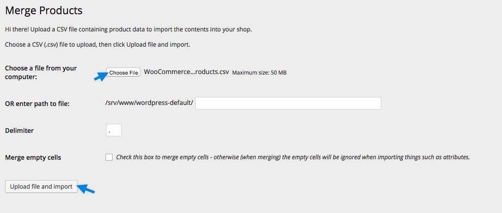 Product CSV Import Suite - Merge Upload