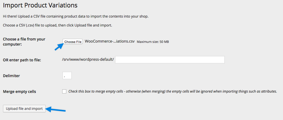 Product CSV Import Suite - Upload CSV