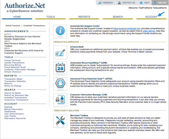 WooCommerce Authorize.Net Reporting Setup