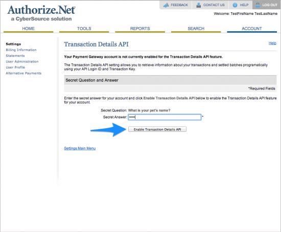 WooCommerce Authorize.Net Reporting Setup 3