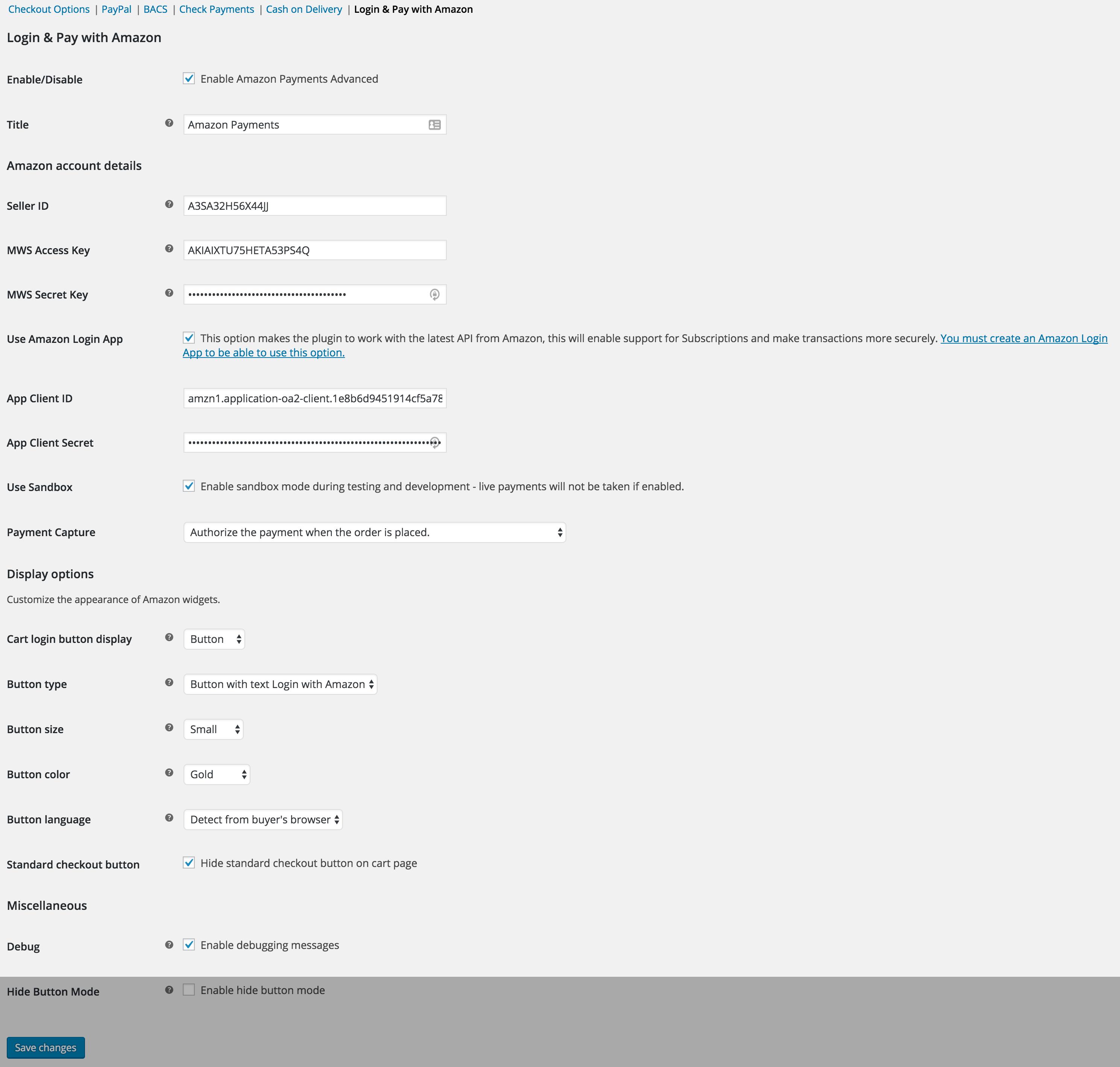 amazon-adv-pay-checkout-settings