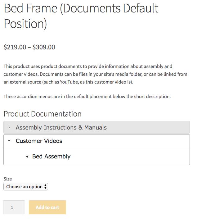 WooCommerce Product Documents default title