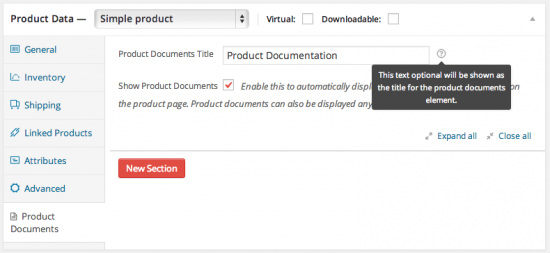 WooCommerce Product Documents Default Title Override