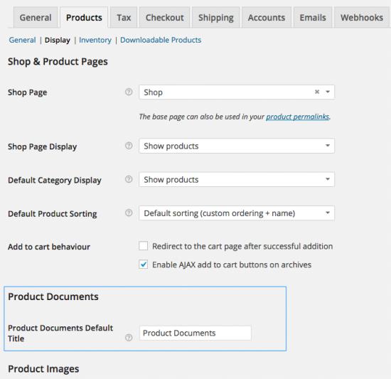 Einstellungen für WooCommerce-Produktdokumente