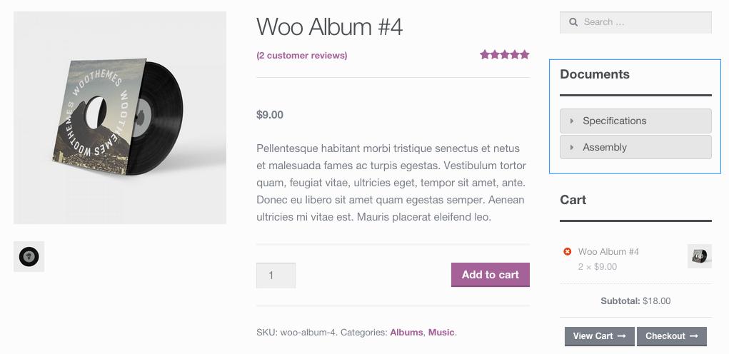 woocommerce product documents woocommerce docs
