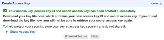 Amazon Web Services Security Credentials Download Keys