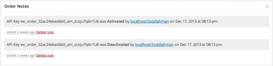 Order Screen API Notes