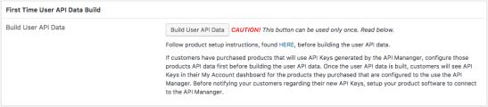 Build User API Data