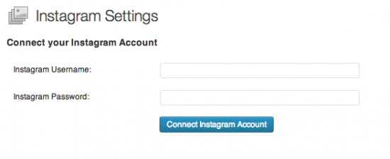 Connect your Instagram account.