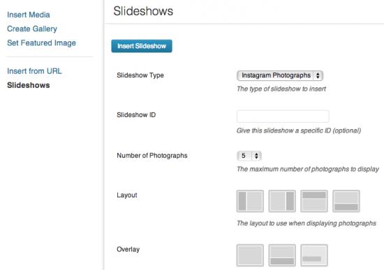 Add an Instagram Slideshow.