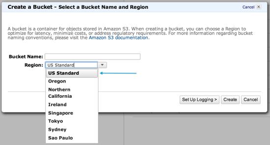 non-region specific Amazon S3 bucket