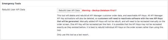 Rebuild User API Data