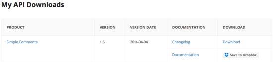 My API Downloads