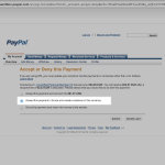 PayPal Create Balance in Currency Screenshot